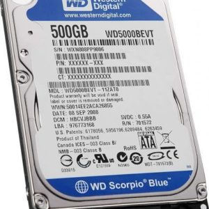 Disque Dur HD 500 Go 2.5″ WD 5400RP